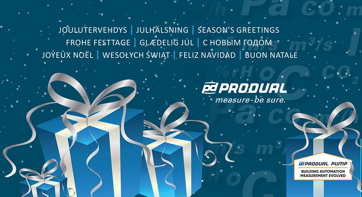 seasons greetings and a happy new year from all the produal team